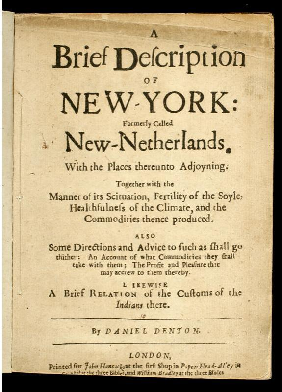 What Was New York City Like in 1670? | The New York History Blog