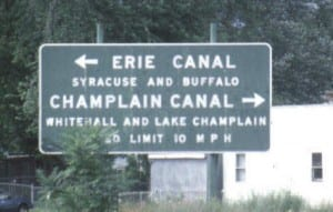 Erie - Champlain Canal Junction (Courtesy American Canals)