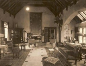 The Great Room at Elda, circa 1929 (Douglas Leen Photo)