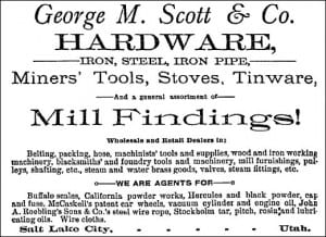 Advertisement George M Scott Hardware