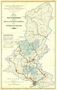 1885 Delaware River Watersheds