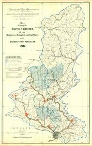 1885 Delaware River Watersheds