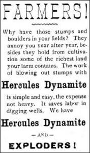 1899 Ad dynamite