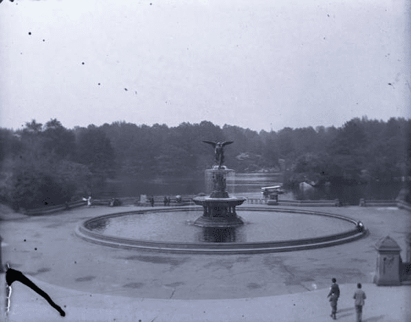 Bethesda Fountain, Central Park, New York City, May 11, 1891. Elizabeth Ransom photograph collection, 1891-1892, New-York Historical Society
