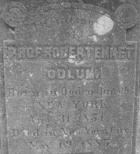 Odlum gravestone CR