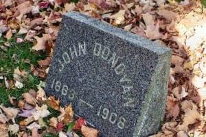 John Donovan gravestone