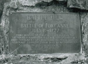 Fort Anne Battle Hiill Marker