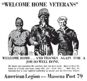 1945 Ad Welcome Home Vets