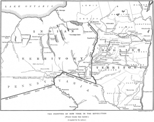 A portion of the 1768 Fort Stanwix Treaty line showing the boundary in New York