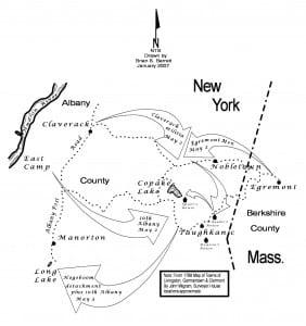 Battle of Egremont Map