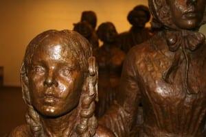 Statue at the Seneca Falls, NY national park visitors' center