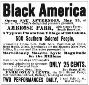 Black America Ad from the New York Clipper