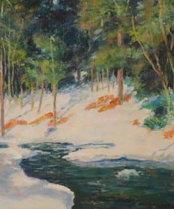 George Gardner Symons, Winter Scene, Cornish, New Hampshire, ca 1910