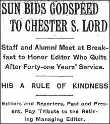 1913 NY Times headline