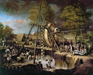 Peale's Exhuming the Mammoth
