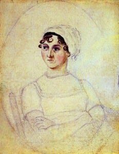 Portrait of Jane Austen, drawn by her sister Cassandra (c 1810)