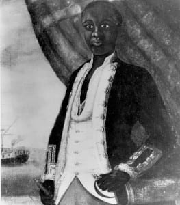 Portrait of a black American Revolutaionary War salior by unknown artist, c 1780 (Original in the Newport Historical Society)