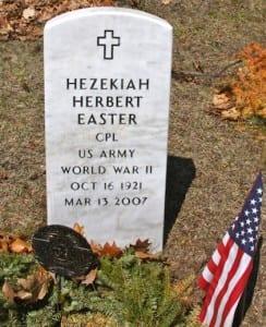 Herbert Hezekiah Easter Gravestone