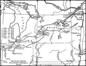 Map of Lake Frontier to Illustrate Campaigns of 1812-1814