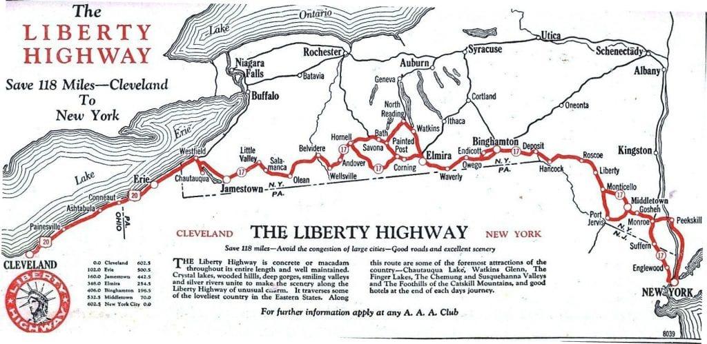 The Liberty Highway Buffalo To New York The New York History Blog - New york map highways