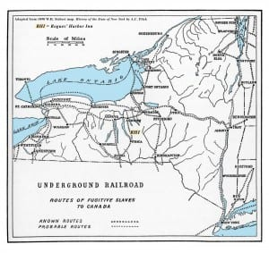 NY UNderground Railroad Routes