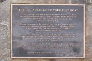 Old Albany Post Road plaque erected by Town Board of Philipstown in 2003