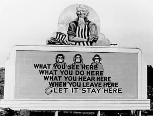 Oak Ridge, Tennessee Warning Poster