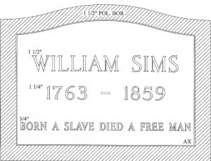Sims, William Gravestone