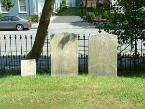 Isaac and Hannah Hasbrouck Graves in Old Town Cemetery-Author