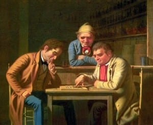 P1Bingham painting, checkers1850