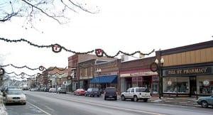 Fall Street in Seneca Falls