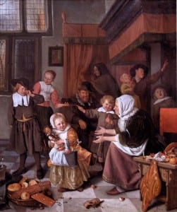 The Feast of Saint Nicholas, by Jan Steen, 1660s
