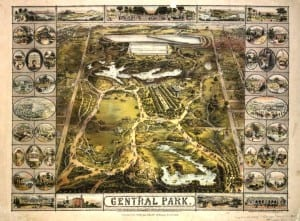 central park map 1863
