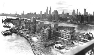 Goldwater Hospital from the Queensboro Bridge in 1938