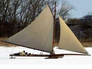 Ice yacht Whiff-near-Athens ny
