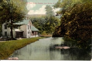 Postcard The Fish Pond Copake Iron Works