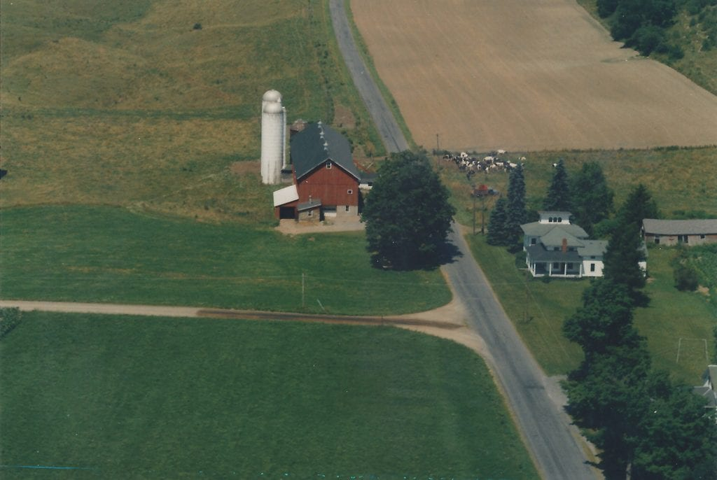 1968 Casey Farm reprinted from Aerial Survey Photo 5x3