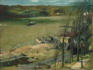 George Bellows - Up the Hudson (1908)