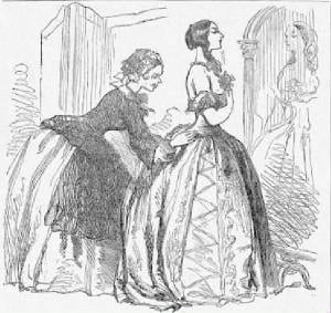 Irish Servant Dressing Woman