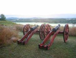 Saratoga Battlefield and Hudson River