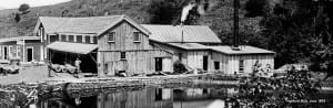 mill with steam
