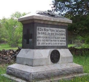 43rd Infantry Monument at Gettysburg