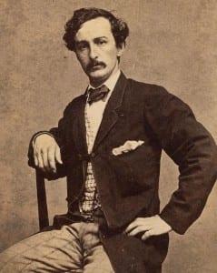 A Carte de visite of John Wilkes Booth
