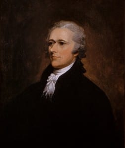 Alexander Hamilton portrait by John Trumbull 1806