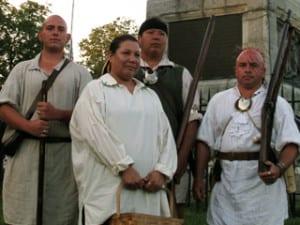Oneidas  at the Battle of Oriskany in 2009