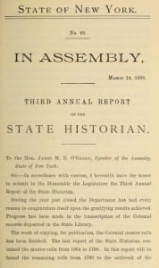 New York State Historian Annual Report