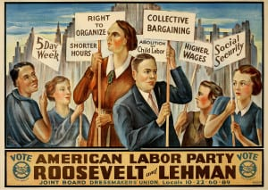 Roosevelt and Lehman Campaign Poster