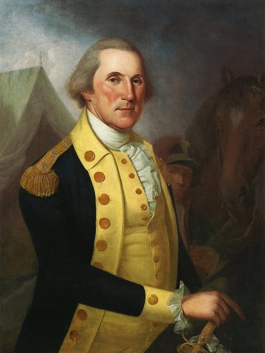 1787 portrait of george washington by james peale