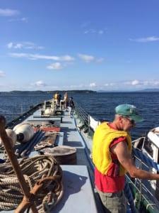 Schooner Lois McClure departs Burlington on route to Waterford in August 2015