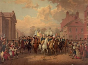 Washington and Clinton Enter New York City after the American Revolution